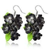 Boucles fimo 12 - Bouquet noir