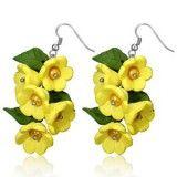 Boucles fimo 13 - Bouquet jaune