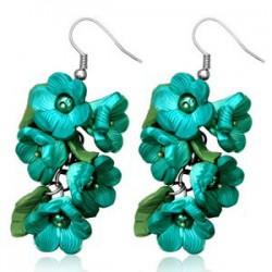 Boucles fimo 14 - Bouquet turquoise