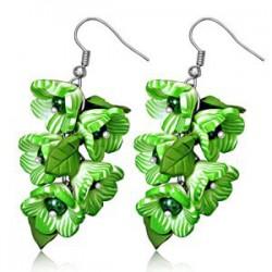 Boucles fimo 15 - Bouquet vert
