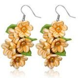Boucles fimo 25 - Bouquet orange