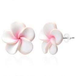Boucles fimo 35 - Fleur blanche