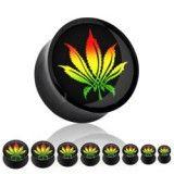 Plug acrylique logo cannabis