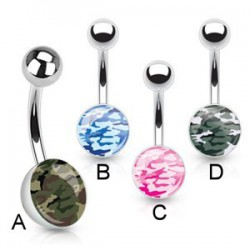Piercing nombril logo camouflage B