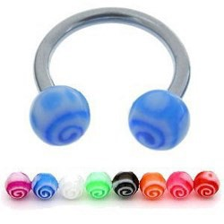 Piercing micro-circulaire 70 - UV curly