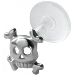 Piercing micro-labret PTFE 125 - Crâne