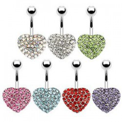 Piercing nombril coeur 81 - Multistrass
