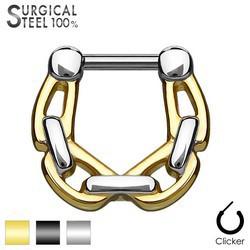 Piercing septum 07 - Chaine deux couleurs