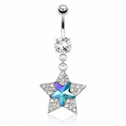 Piercing nombril étoile 33 - Multistrass