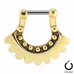 Piercing septum 19 - Vintage bouclier jaune A