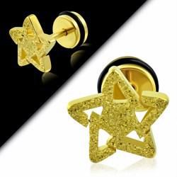 Faux-écarteur acier 166 - Satin jaune étoile C