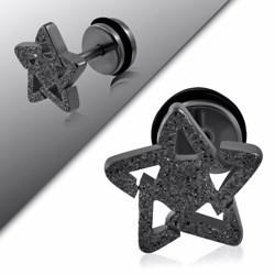 Faux-écarteur acier 172 - Satin noir étoile de David