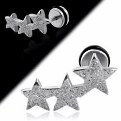 Faux-écarteur acier 176 - Satin gris triple étoiles B