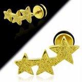 Faux-écarteur acier 177 - Satin jaune triple étoiles B