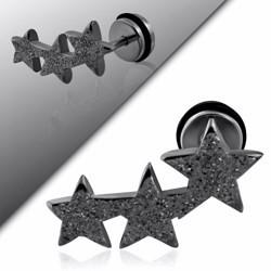 Faux-écarteur acier 178 - Satin noir triple étoiles B