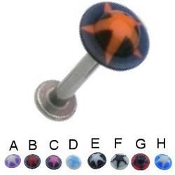 Piercing labret UV 04 - UFO étoile