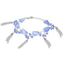 Chaine de cheville fantaisie 03 - Bleue chainettes