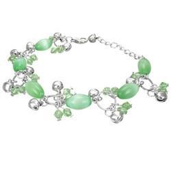 Chaine de cheville fantaisie 14 - Vert pomme clochettes