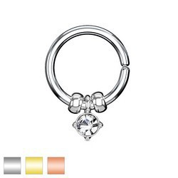 Piercing micro-bcr 147 - Cristal rond pendant