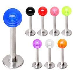Piercing micro-labret acry 01 - UV unicolore boule
