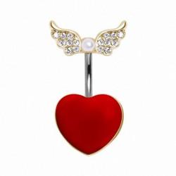 Piercing nombril coeur 24 - Haut et bas