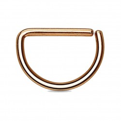 Piercing septum ou hélix 73 - Gold-ip rose