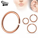 Anneau 0,8mm à 1,2mm - Gold-ip simple rose