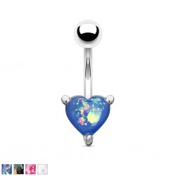 Piercing nombril coeur 36 - Gem paillettes