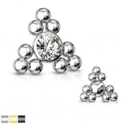 Embout microdermal deluxe 05 - Boule strass et billes triangle