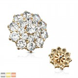 Embout microdermal deluxe 09 - fleur avec strass B