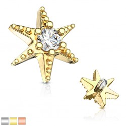 Embout microdermal deluxe 10 - Etoile de mer strass