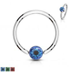 Piercing anneau 1,6mm 128 - Oeil psychédélique