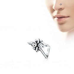 Piercing nez courbé 0.8mm 82 - Motif tribal