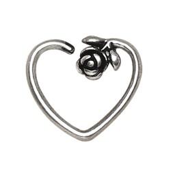 Piercing micro-bcr 174 - Coeur avec rose