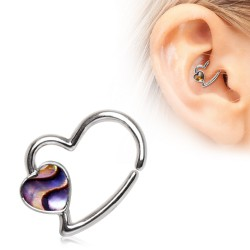 Piercing micro-bcr 181 - Coeur avec abalone