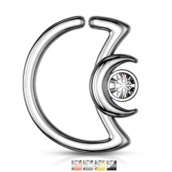 Piercing micro-bcr 183 - PVD lune et strass