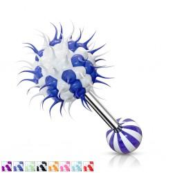 Piercing langue coquine 22 - Silicone virus