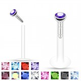 Piercing micro-labret PTFE 02 - Strass in