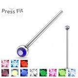 Piercing nez pliable boule strass 0.8mm