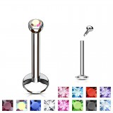 Piercing micro-labret 17 - Strass in