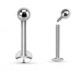 Piercing micro-labret 87 - diamètre 1mm screw in boule