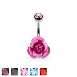 Piercing nombril fleur 02 - Petite rose
