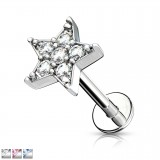 Piercing micro-labret 132 - Etoile multistrass