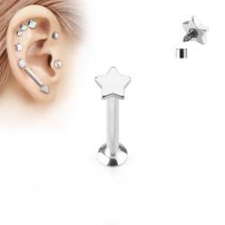 Piercing micro-labret 15 - étoile screw in