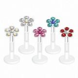 Piercing micro-labret PTFE 11 - Flower