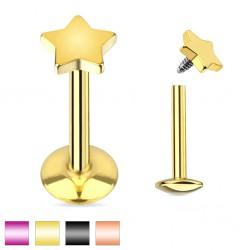 Piercing micro-labret 47 - PVD étoile