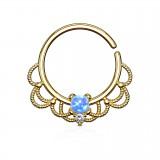 Piercing micro-bcr 155 - Gold-ip vintage opale