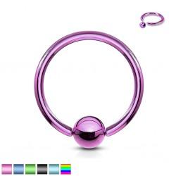 Piercing anneau BCR PVD O,8 ou 1mm