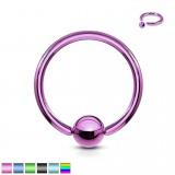 Piercing anneau 1,6mm 03 - PVD