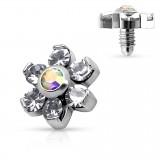 Embout microdermal flower cristal 05mm
